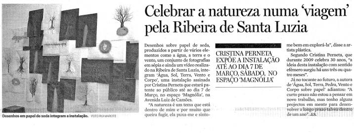 Celebrar a natureza numa viagem pela Ribeira de Santa Luzia | Diário de Notícias da Madeira, 1 Fevereiro 2009