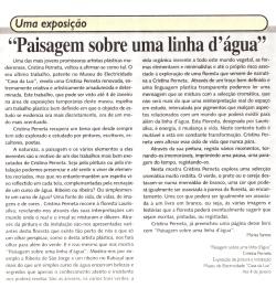Paisagem sobre uma linha d´água | Jornal da Madeira, 1 Janeiro2007