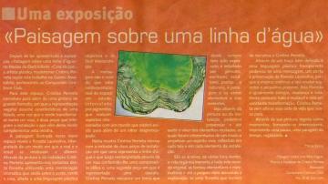 Paisagem sobre uma linha d´água | Jornal da Madeira, 9 Setembro 2007