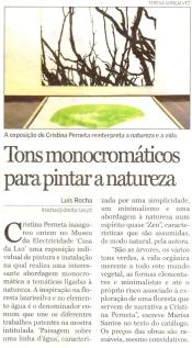 Tons monocromáticos para pintar a natureza | Diário de Notícias da Madeira, 13 Dezembro 2006