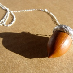 Necklace - Oak and Silver Leaf   Sold