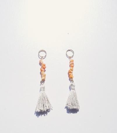 Earrings - Peach Whelks