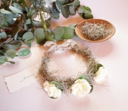 Linen Crown with Natural Flowers